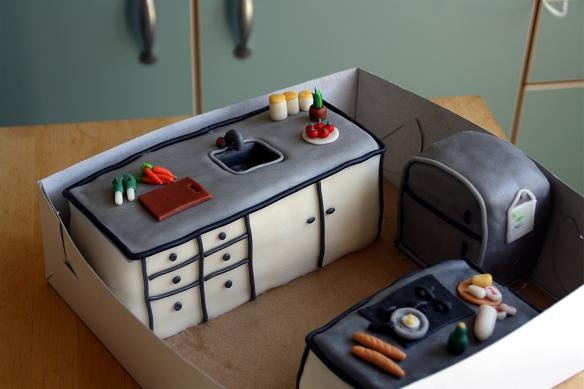 A kitchen cake. Made by AMBD.