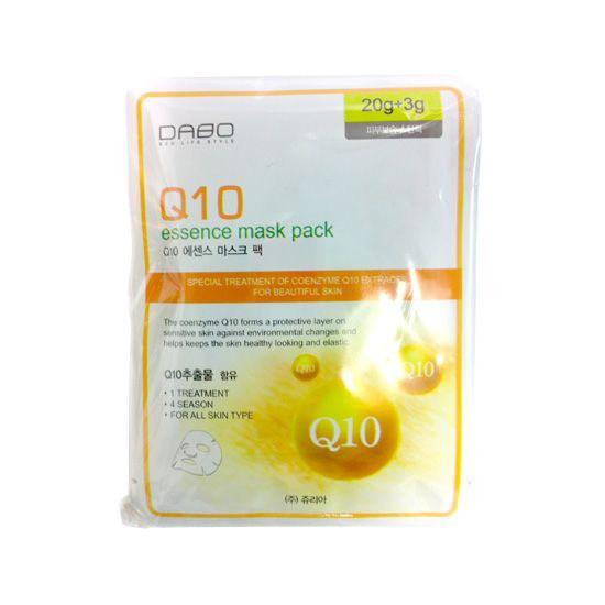 [다보] 코엔자임Q10 마스크팩 28g [DABO] Mask Pack Coenzyme Q10 28g  #korean #women #mask_pack #pack #Q10 #essence #hanyang #online #shopping #new zealand
