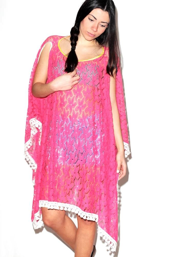 Pink Caftan Thin Lace