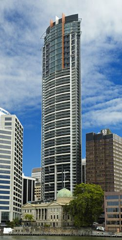 Aurora Tower, Brisbane @ 207m is the city's second tallest building behind Soleil (third behind Riparian Plaza's 50m mast) and soon to be over taken by Infinity (completion set for 2014).