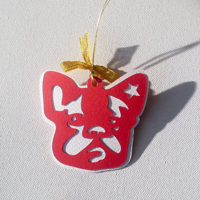 French Bulldog Christmas tree decoration by PSIAKREW on Etsy
