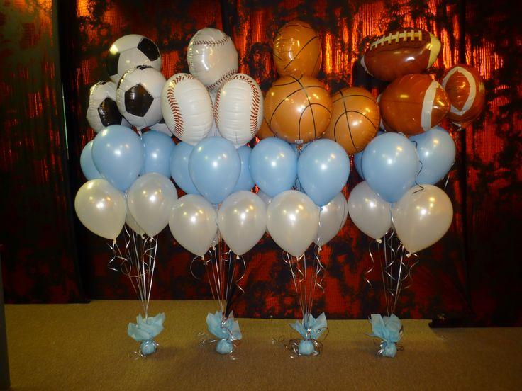 Basketball themed Bat Mitzvah decoration. Sport theme balloons.  www.dreamarkevents.com