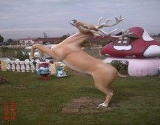 Running Deer Sculpture