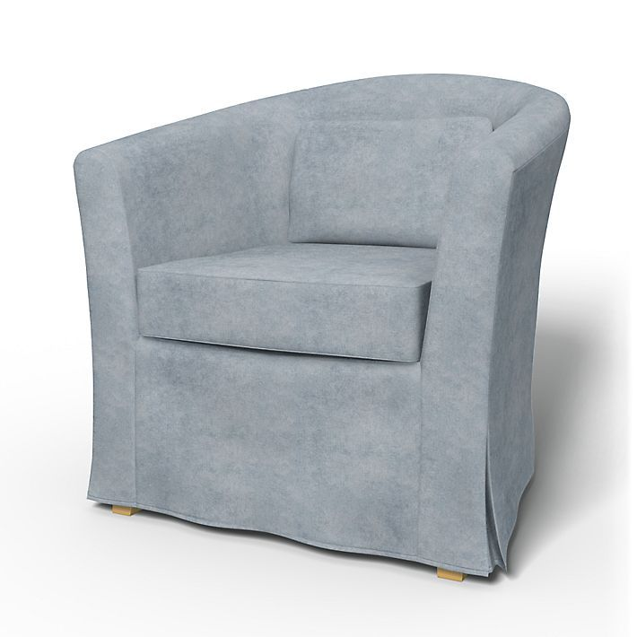 Tullsta, Armchair Covers, Armchair, Regular Fit using the fabric Zaragoza Vintage Velvet Mist
