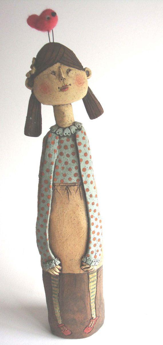 My Bird female ceramic figure by emilyrowley on Etsy