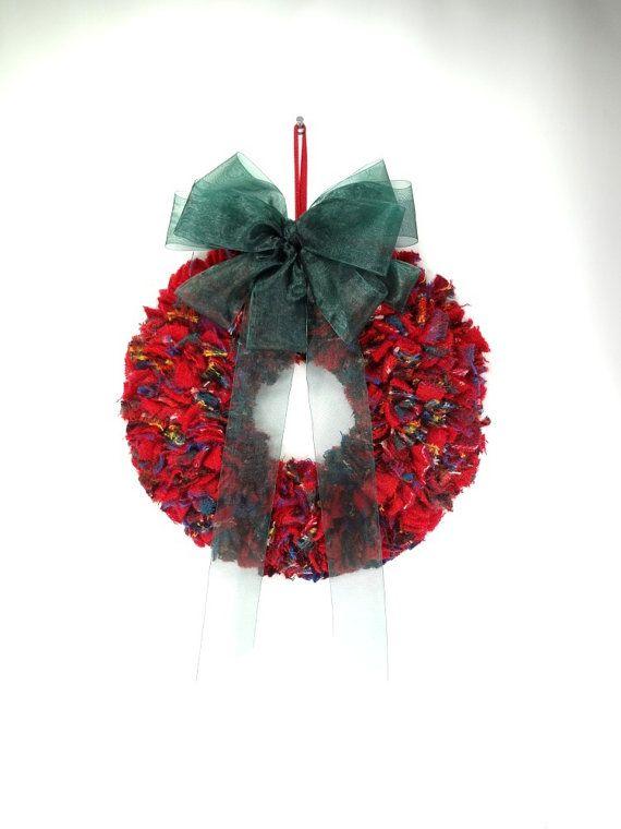 Plaid Fabric Wreath