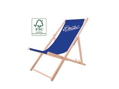 Liegestuhl Classic Holzliegestühle mit Logo bedrucken vollflächiger Druck