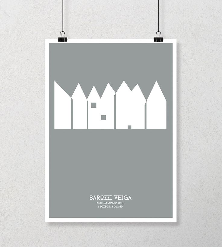 MINIMALIST POSTERS ABOUT POLISH ARCHITECTURE on Behance