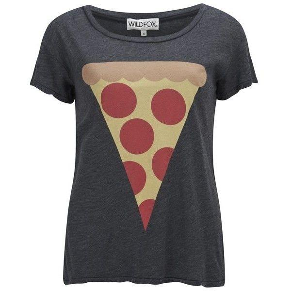 Wildfox Women's Hot Slice East T-Shirt - Black $315  #polyvore #bmodish