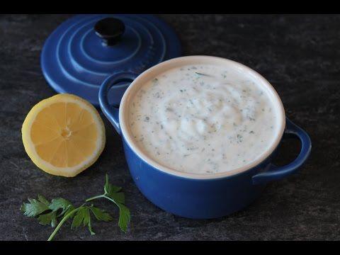 Salsa de yogur (para kebabs, ensaladas o dipear) sin lactosa | Cocina