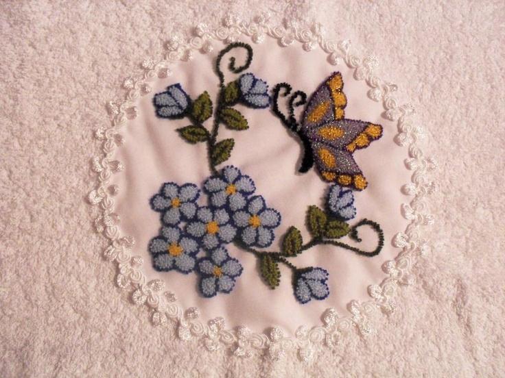 Bordado Chino | Punchneedle on Pinterest | Silk Ribbon Embroidery ...