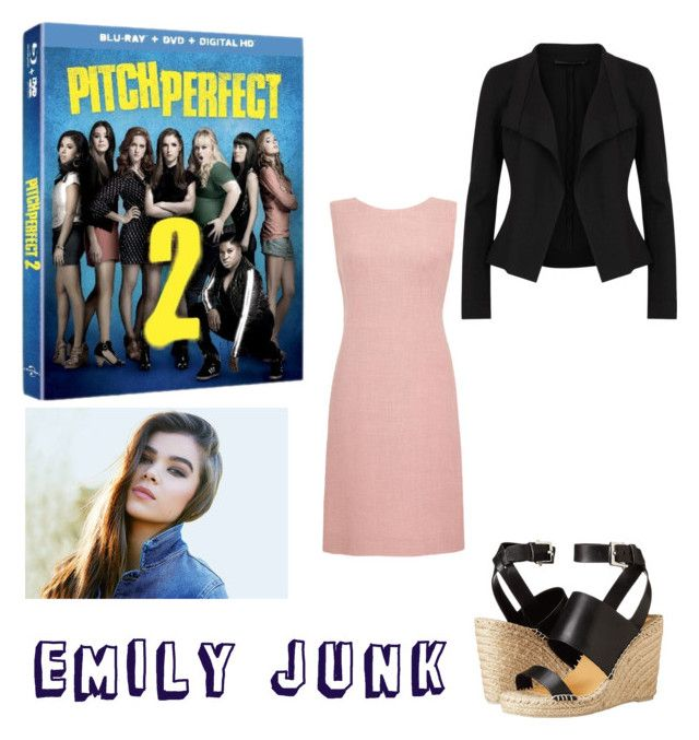 """""""Emily Junk of The Barden Bellas"""" by szeying00 ❤ liked on Polyvore featuring Donna Karan, Dolce Vita and pitchperfect2"""