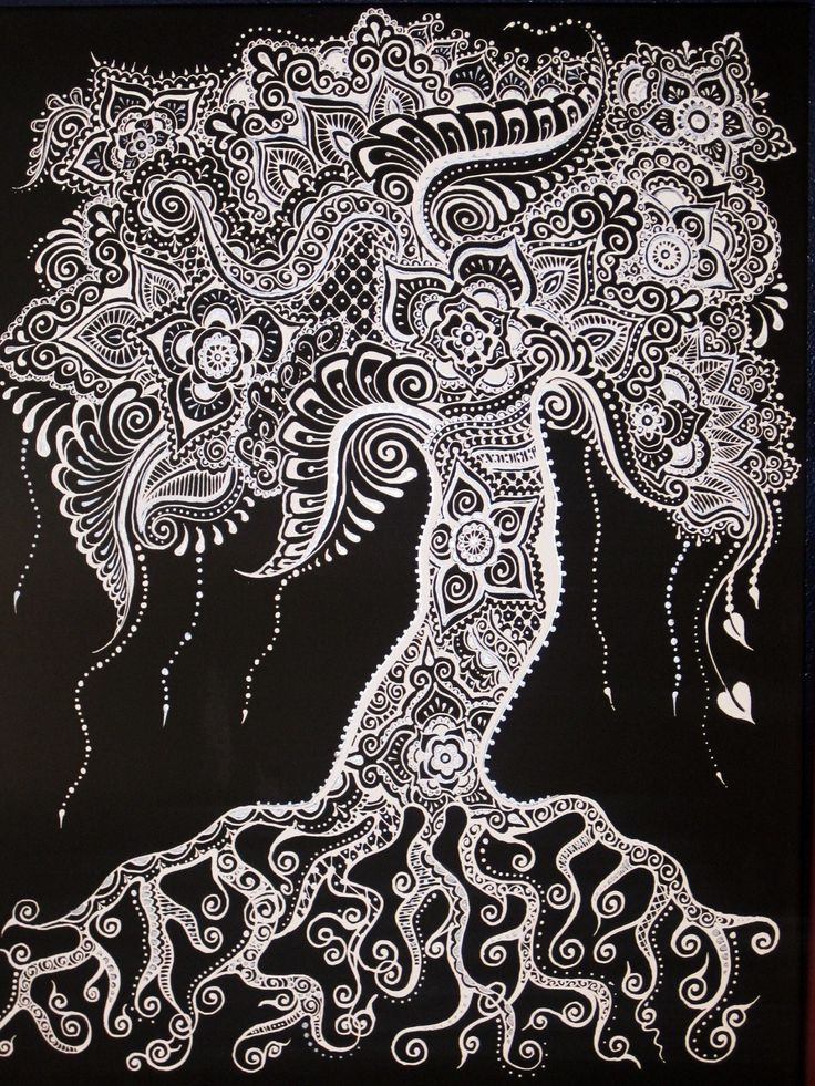 Mehndi Zentangle : Best images about zentangle trees on pinterest