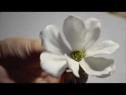 Цветок космеи из фоамирана. Мастер-класс