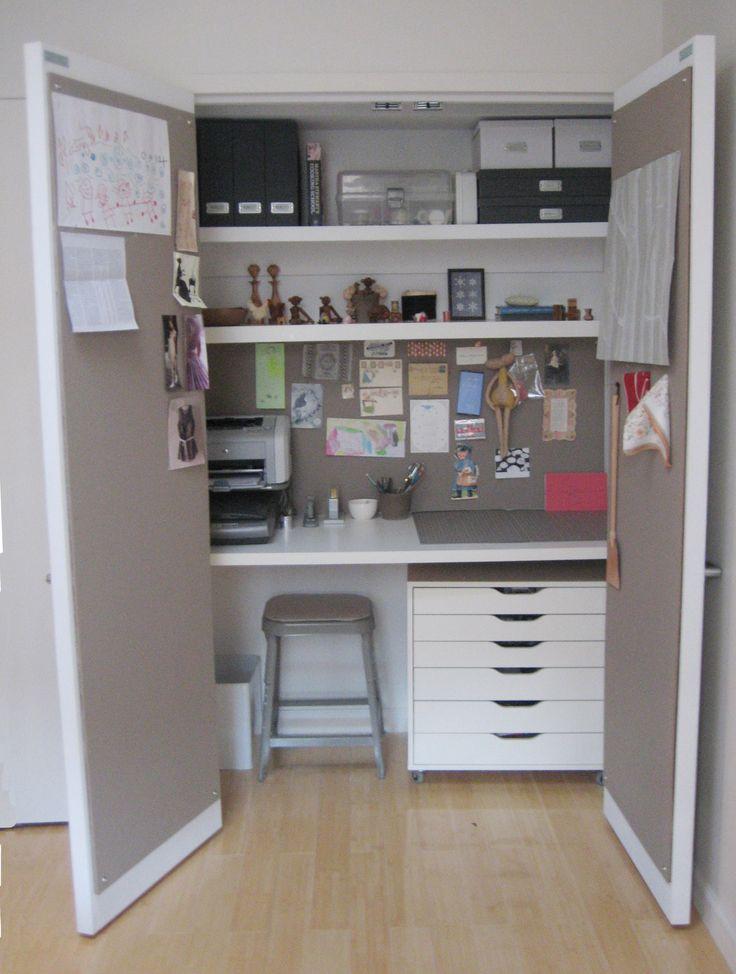 25 best ideas about closet office on pinterest closet for Home depot office doors
