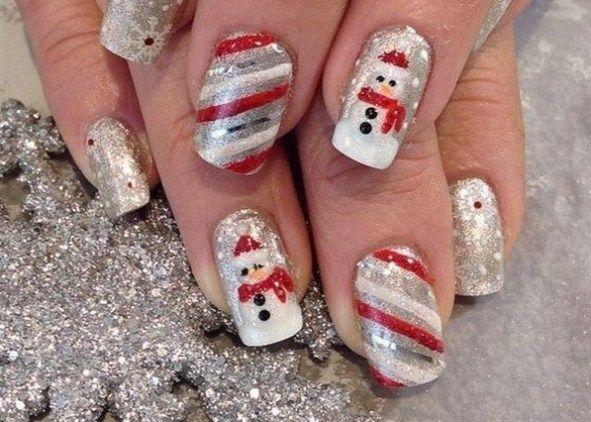 60+ Nail Art Pour Idées De Noël 23   – Christmas nail art designs