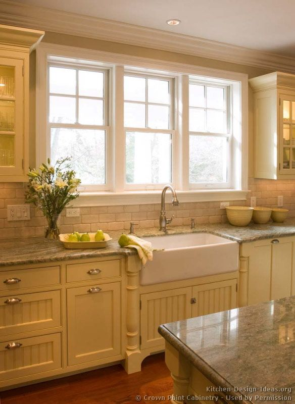 Nice Mix Of Fronts Traditional Antique White Kitchen Cabinets 07 Crown Point