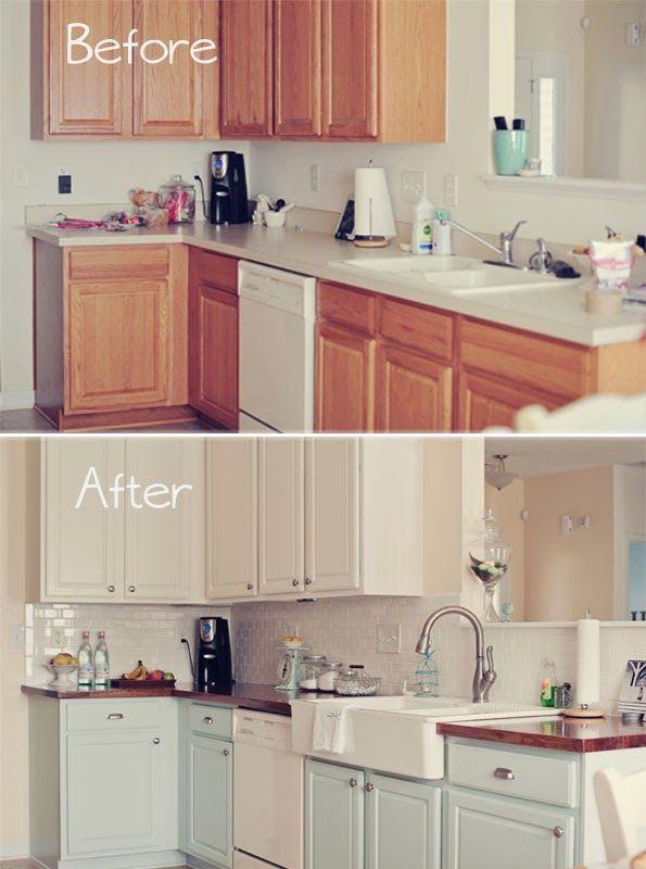 ANTES Y DESPUÉS: una cocina de madera totalmente renovada con pintura