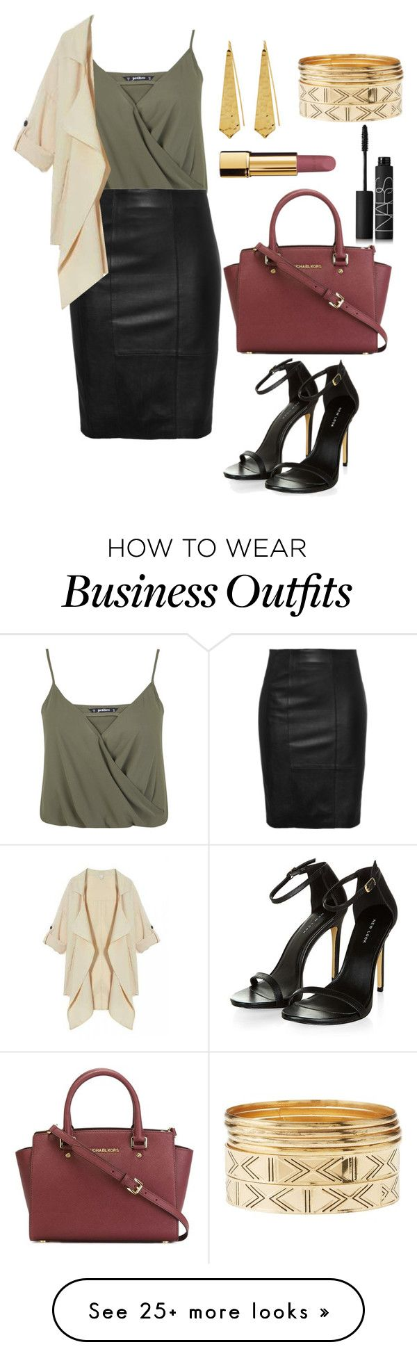 """WORK DAY!!"" by katniss1212 on Polyvore featuring Miss Selfridge, MICHAEL Michael Kors, Panacea, Charlotte Russe, Chanel and NARS Cosmetics"