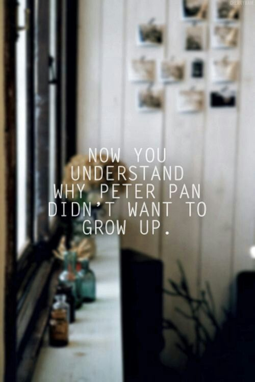 I love Peter Pan. And I could really use a trip to Neverland.
