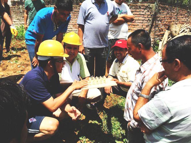 The design- Nepal Survivors building a temporary home.