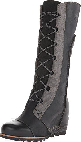 SOREL Women's Cate the Great Wedge Black 8 B - Medium *** Check out the image by visiting the link.