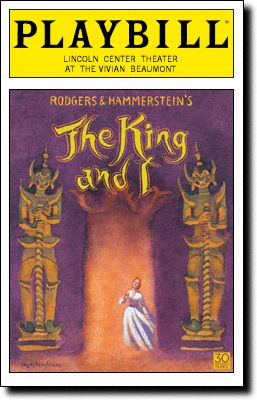 The King and I. at the Vivian Beaumont Theatre. Kelli O'Hara and Ken Watanabe. 2015