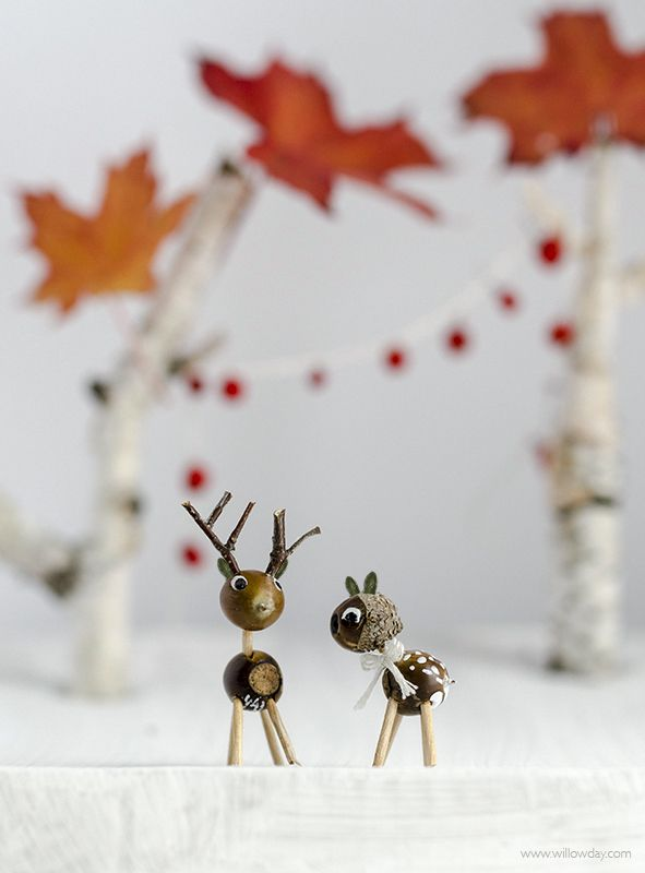 Acorn Craft | Acorn Deer | Nature Craft | willowday