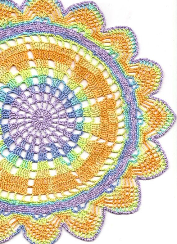 Crochet Doily Lace Doilies Table Decor Crocheted Doily