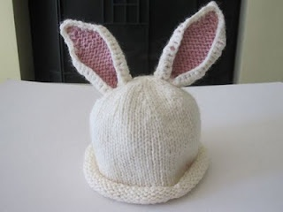 knit bunny ears for baby ... download free on ravelry ... http://www.ravelry.com/patterns/library/baby-bunny-hat-2
