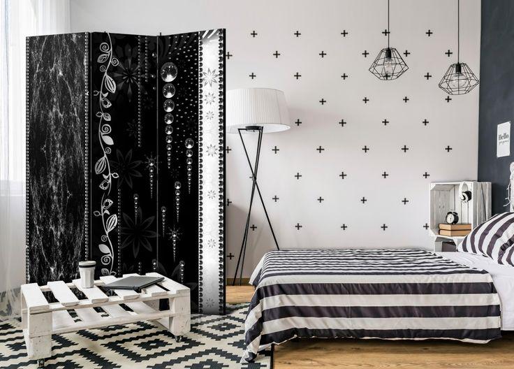 Paravent noir et élégant - ajoutez une touche glamour à votre intérieur #paravent #paravents #bimago #glamour #styleglamour