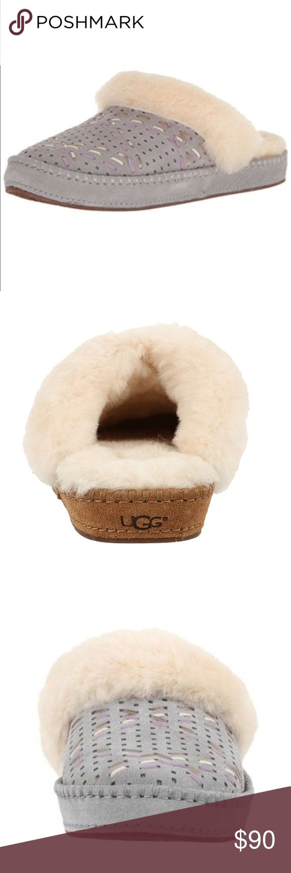 UGG Aira Pencil Lead Grey Pink Sheepskin Slippers New with box! Fully Sheepskin lined. 100% authentic 🌈 UGG Shoes Slippers