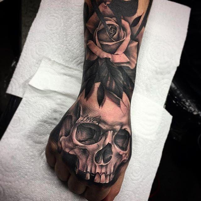 beautiful black and gray rose