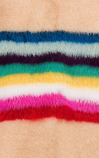 Mink Fur Striped Sweater by MATE OFFICIAL for Preorder on Moda Operandi