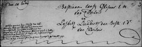 Blog: Jannetje Cdr. van Gelderen (1714-78) zei dat Bastiaan Glesuur de vader van haar kind was.
