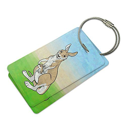 Kangaroo and Kid Suitcase Bag ID Luggage Tag Set * Click image for more details.Note:It is affiliate link to Amazon.