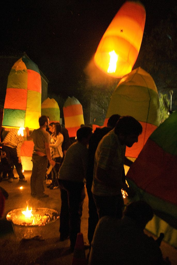 Lighting lanterns of Easter in Leonidio, Arcadia, Peloponnese_ Greece