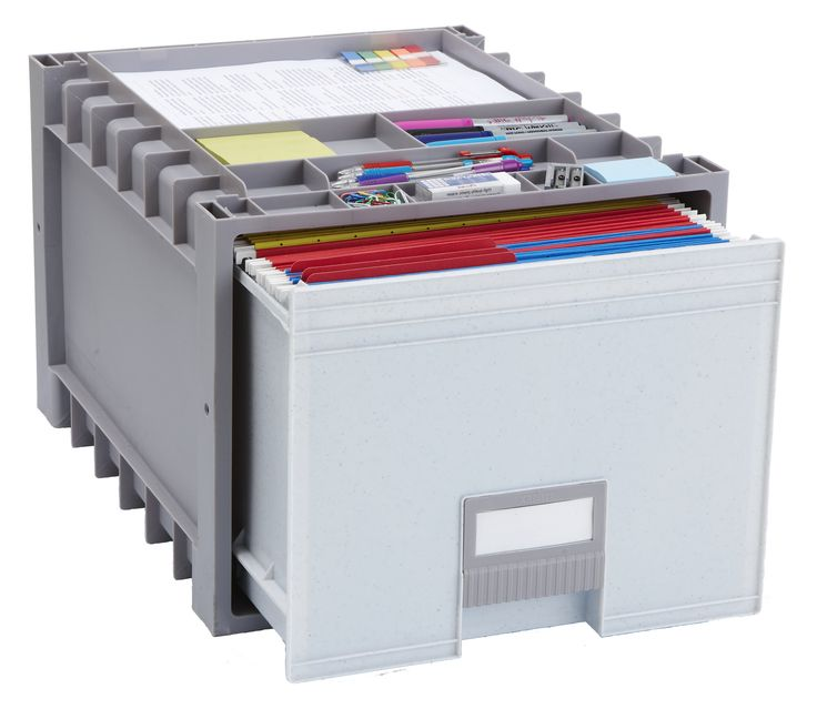 """Plastic Archive Letter Size 18"""" 1-Drawer Mobile Lateral Filing Cabinet"""