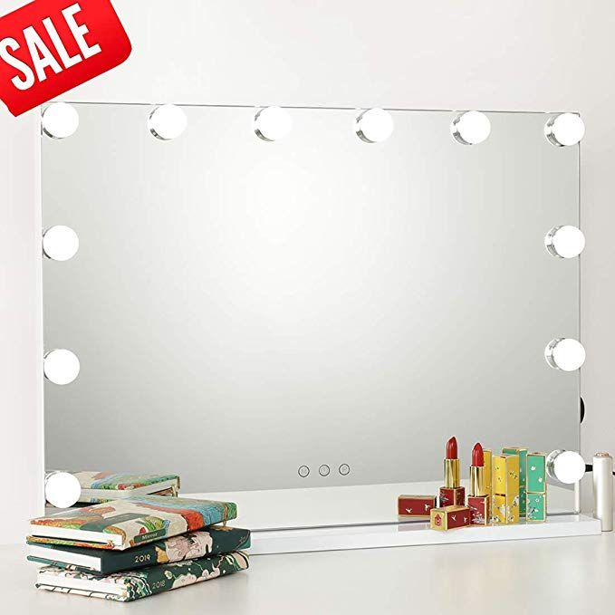 Icreat Makeup Mirror With Lights Hollywood Vanity Mirror 3 Color Modes Cosmetic Mirror Hollywood Vanity Mirror Makeup Mirror With Lights Mirror With Lights