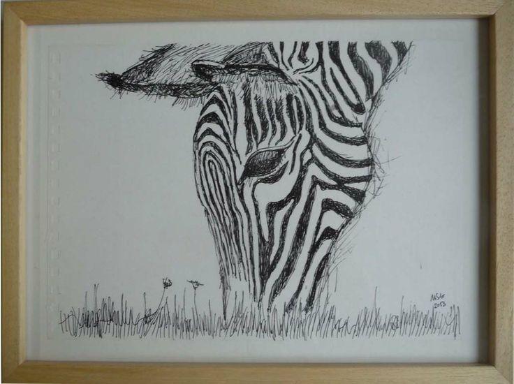 Caneta sobre papel com muldura (21x29,7) 65 Pen on paper with frame (21x29,7) 65