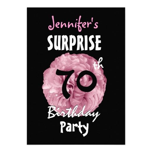 22 best Surprise 70Th Birthday Invitations images on Pinterest