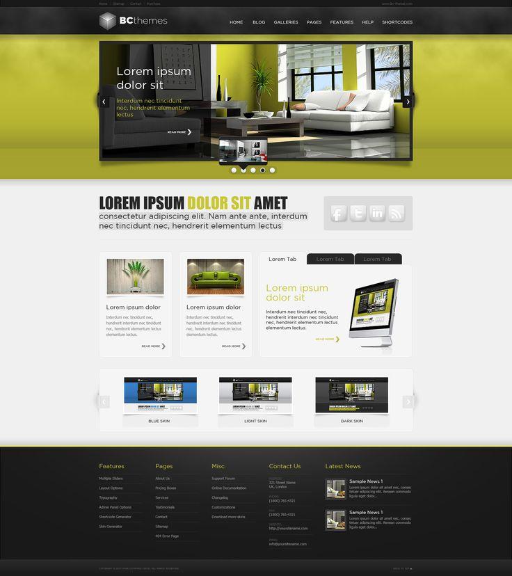 Web Design: WordPress Template by *VictoryDesign on deviantART
