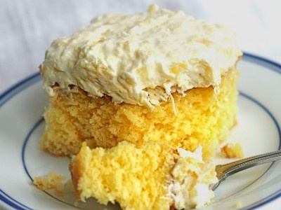 Aloha Cake! - Yellow cake mix, mandarin oranges, coconut pudding, pineapple and coconut!