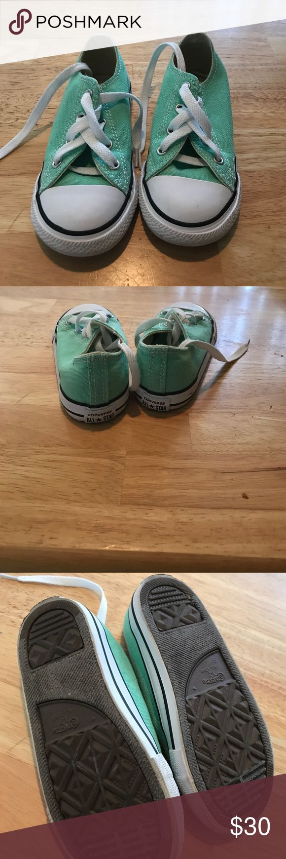 Turquoise converse Toddlers turquoise converse worn 1 time Converse Shoes Sneakers