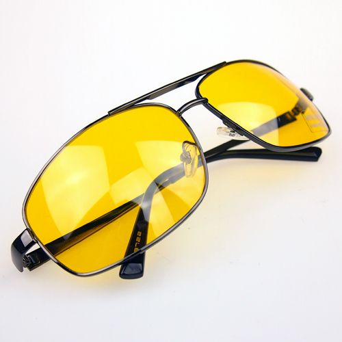 High Quality Night Driving Vision Yellow Lens Sunglasses Driver Safety Sun glasses Goggles type glass Brand New