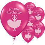 "Balloons: Ballerina Party 10"" Latex Balloons x6pk"