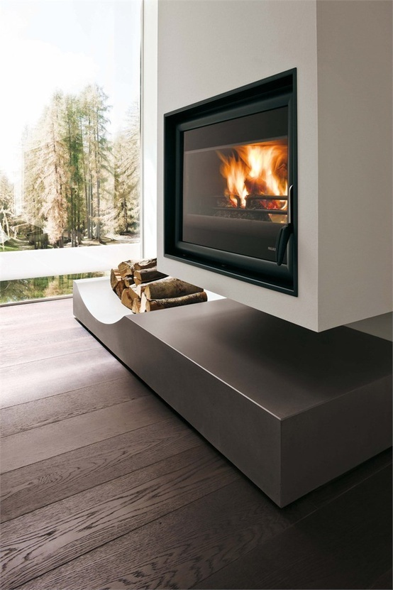 Gorgeous fireplace!