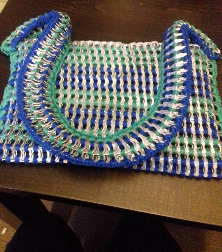Recycled can lids purse, made by me!