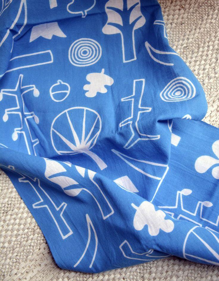 Tenugui towel 'Skogen' via Anna Lindsten. Click on the image to see more!