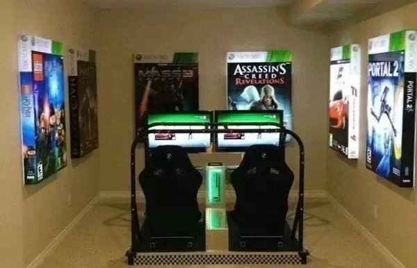 Awesome Video Game Room Basement Maybe Home Pinterest Video